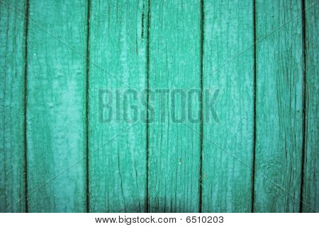 The Wooden Wall Of The Green Colour.