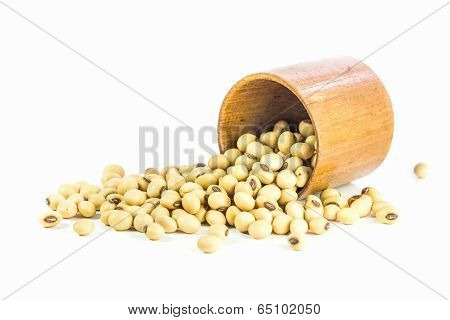 Soybeans In Wood Cup