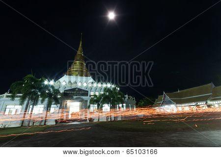 Visakha Day Candlelight Around The Pagoda