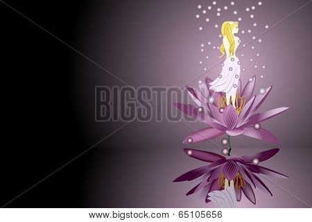 Young  Girl In Water Lily