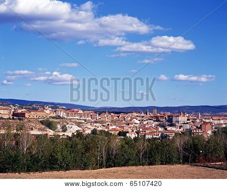 View over town, Teruel, Spain.