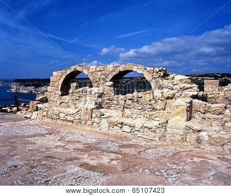 Christian Basilica ruin, Kourion, Cyprus.