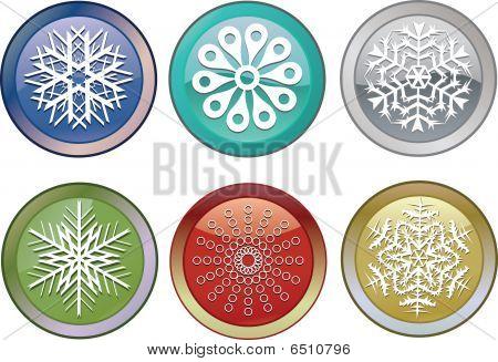 Schneeflocken icons