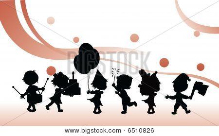 Silhouettes Children