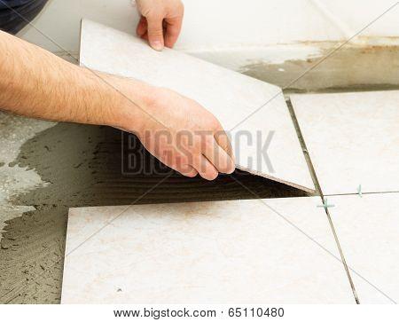 Ceramic Floor Tile Application