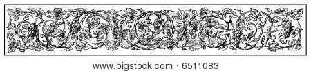 Grape Vine Frieze