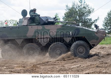 Wroclaw, Poland - May 10. 2014:  Amv Xc-360P Rosomak Armored Vehicle On Military Show On May 10, 201