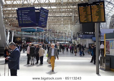 LONDON, UK - MAY 14, 2014: - Waterloo international station in the center of London, one of the main