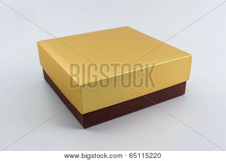 Gold And Brown Box.