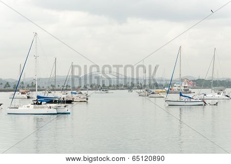 Sail Boats In Panama City, Panama