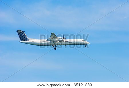 Plane From Porter Airlines Propeller