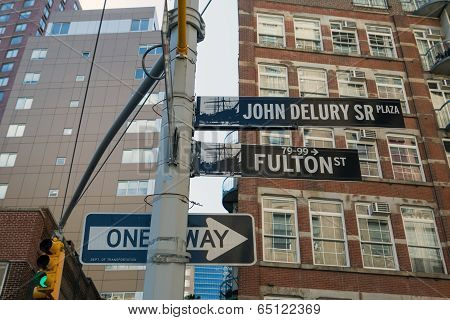 Fulton Street Sign, New York