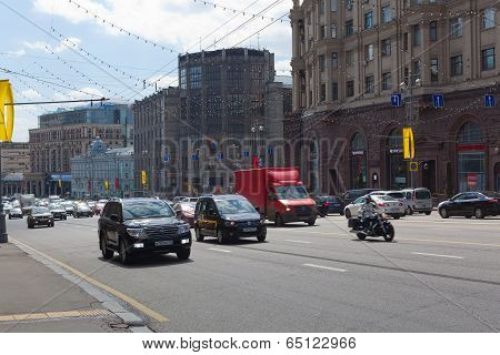 Cars Traveling On Street