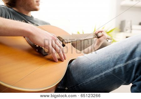 Playing Guitar Close-up