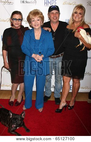 LOS ANGELES - MAY 14: Carrie Fisher, Debbie, Todd Fisher, Catherine Hickland at the