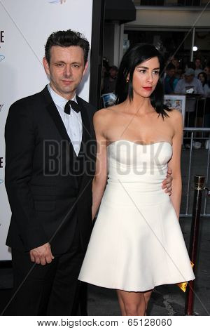 LOS ANGELES - MAY 15:  Michael Sheen, Sarah Silverman at the