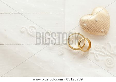 wedding background with wedding rings