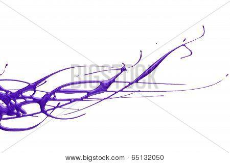 Splash Of Purple Nail Polish