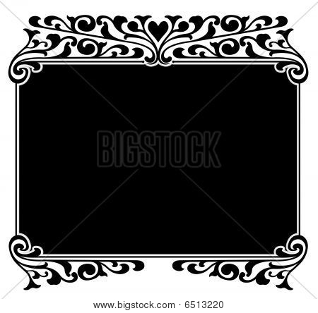 Victorian Scroll Border