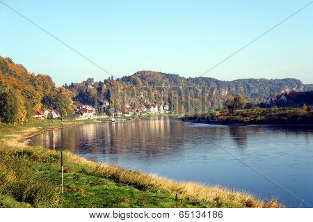 The Elbe in Saxony, Germany