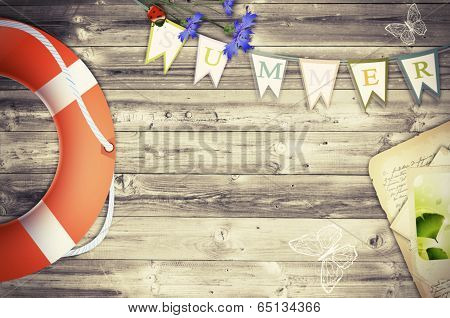 Summer Scrapbooking Abstract Background