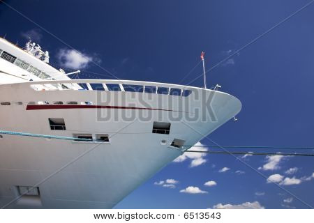 Front of cruise ship