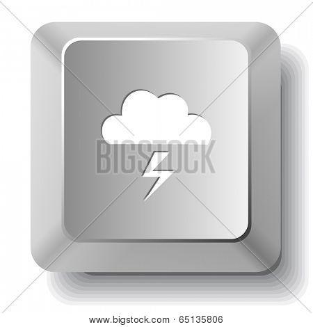 Storm. Vector computer key.