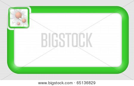 Vector Frame For Text Insertion With Flowers