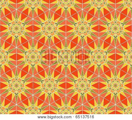 Abstract Stars Seamless Pattern