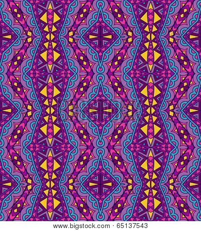 Purple Ethnic Pattern