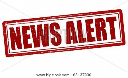 Stamp with text news alert inside vector illustration