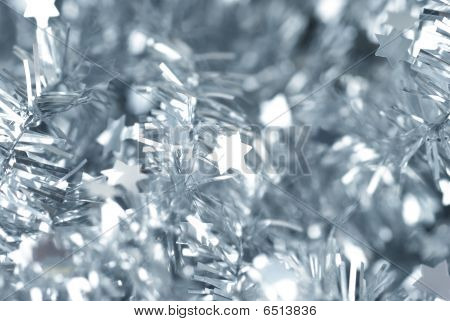 Closeup Photo Of Abstract Silver Defocused Stars