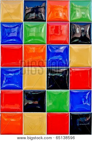Bright Colorful Street Wall  Tiles