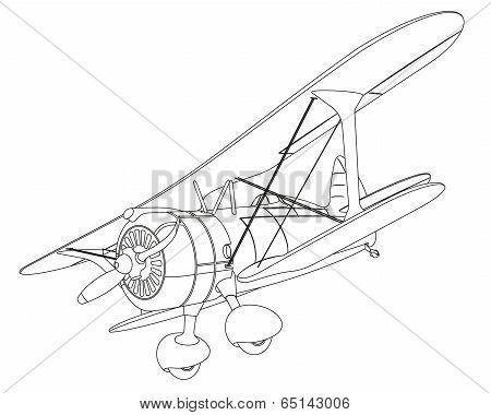 plane drawing