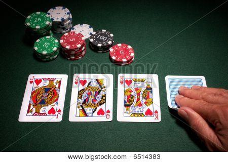 Poker Hand Royal Flush Win