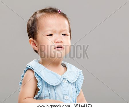 Baby girl get angry