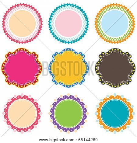 Set of Colorful Digital Frames - Illustration