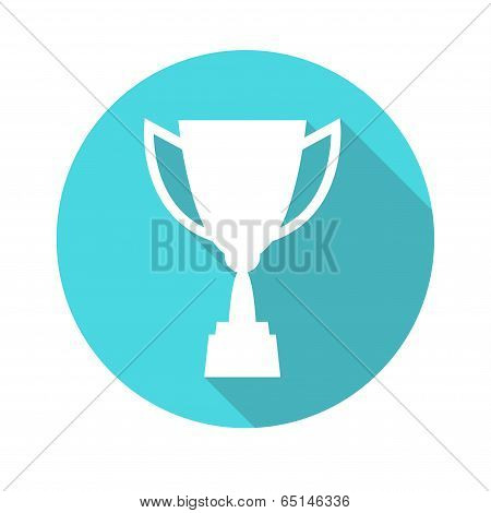 Trophy cup vector icon, flat design. Concept-winning, victory, champion, quality