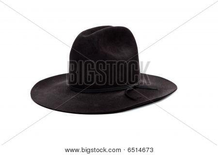 Black Cowboy Hat On White