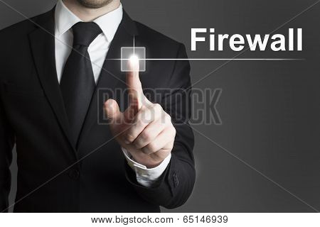 touchscreen firewall button