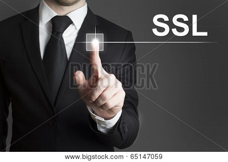 touchscreen ssl businessman