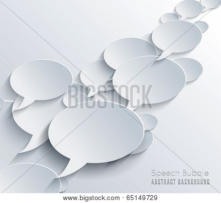 Speech bubble with shadow.
