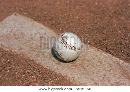 Baseball On Mound