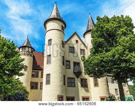 Snow White castle in Lohr am Main in the Spessart Mountains, Germany