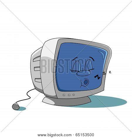 Cartoon sleeping monitor