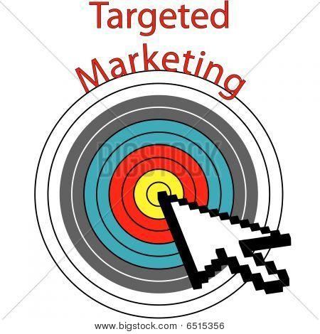 Targeted Marketing Pixel Cursor Clicks On Target