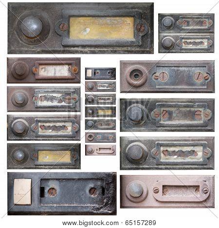 Set Of The Old Doorbells