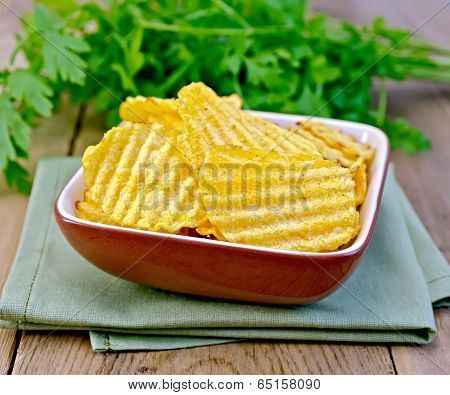 Chips Grooved In Bowl On Board