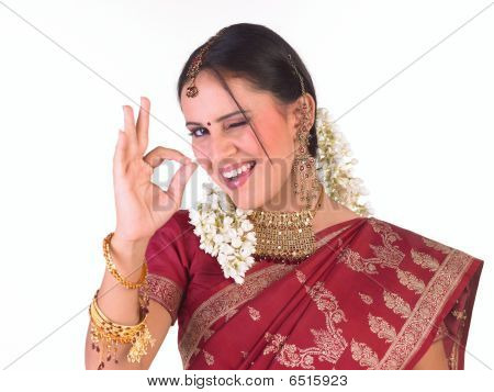 Young girl  with excellent expression