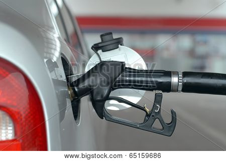 Car fueling at the gas station